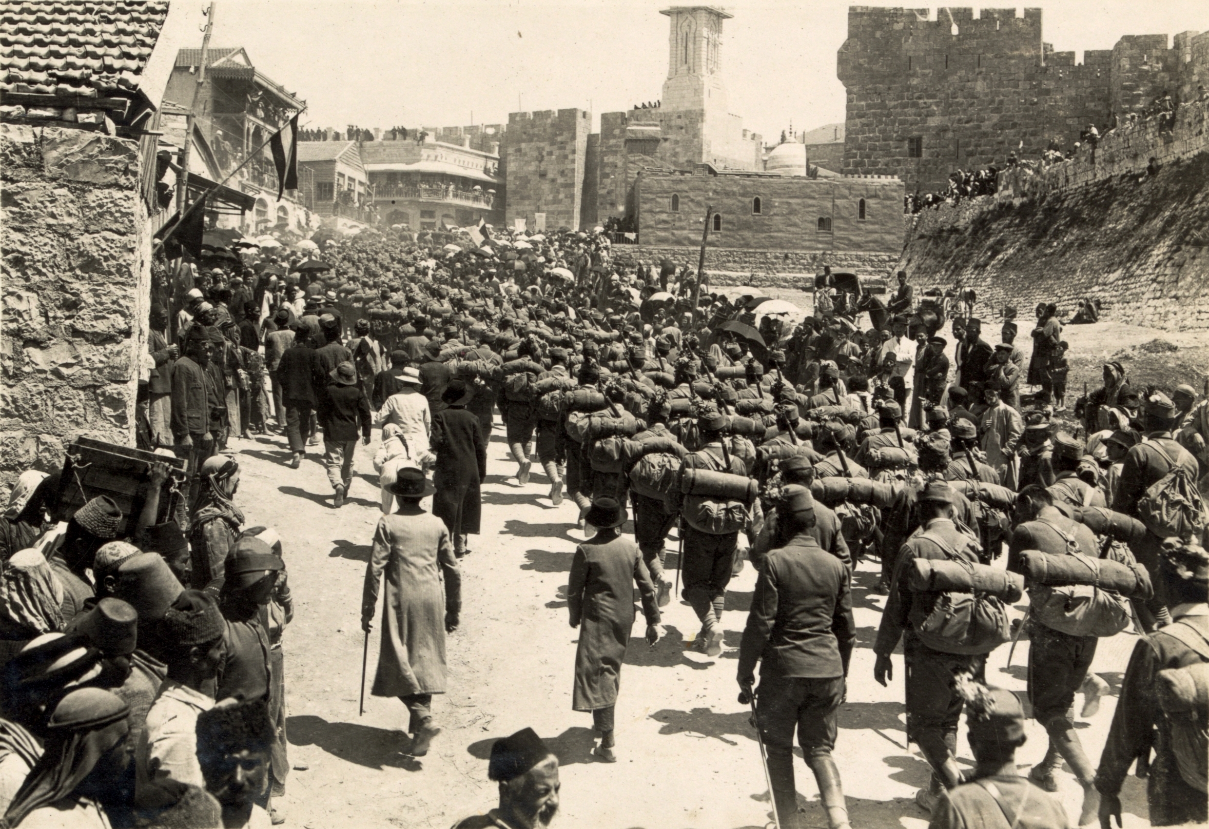 File:Austrian troops marching up Mt. Zion, 1916.JPG ...