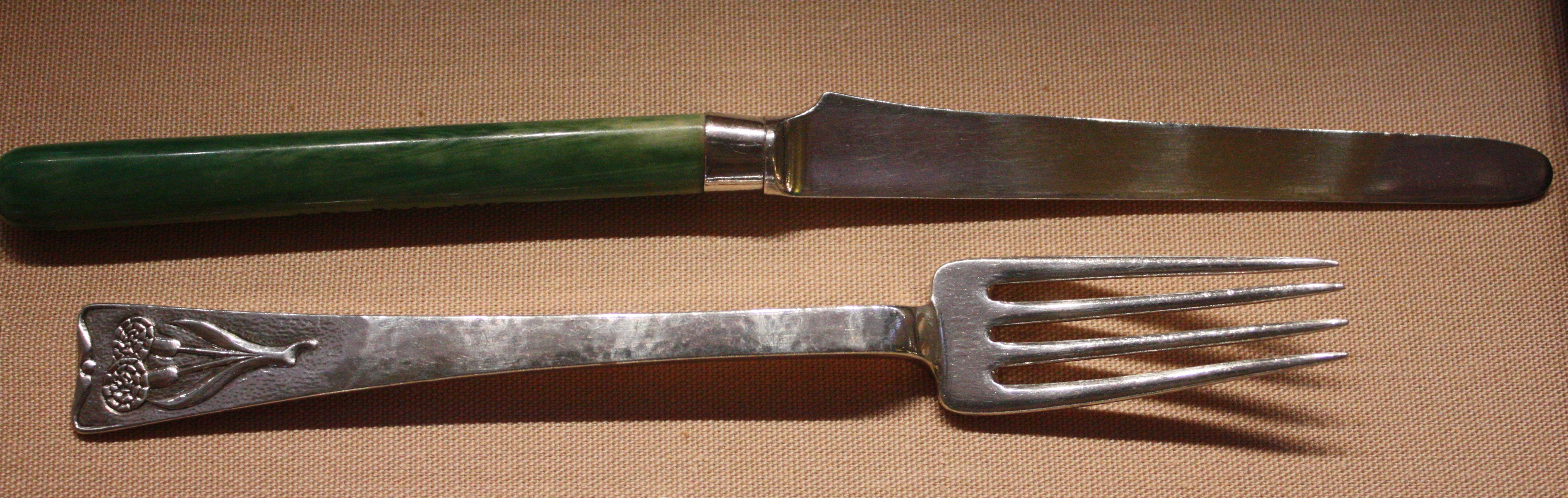 File BLW Fruit knife and fork on arts and crafts movement