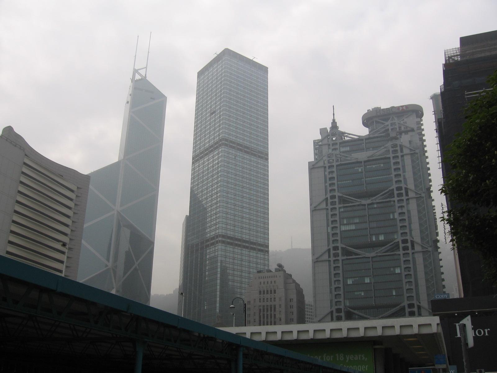 archivobank of china tower cheung kong center and hsbc