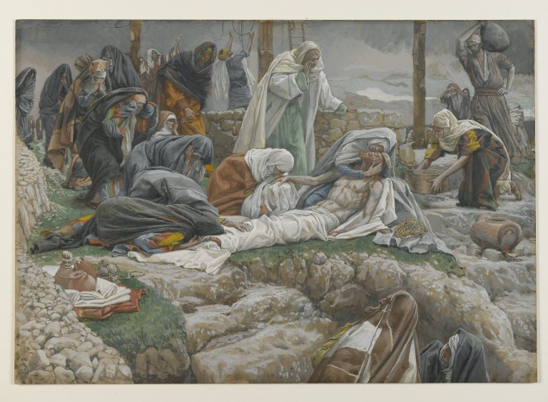 File:Brooklyn Museum - The Holy Virgin Receives the Body of Jesus (La Sainte Vierge reçoit le corps de Jésus) - James Tissot.jpg