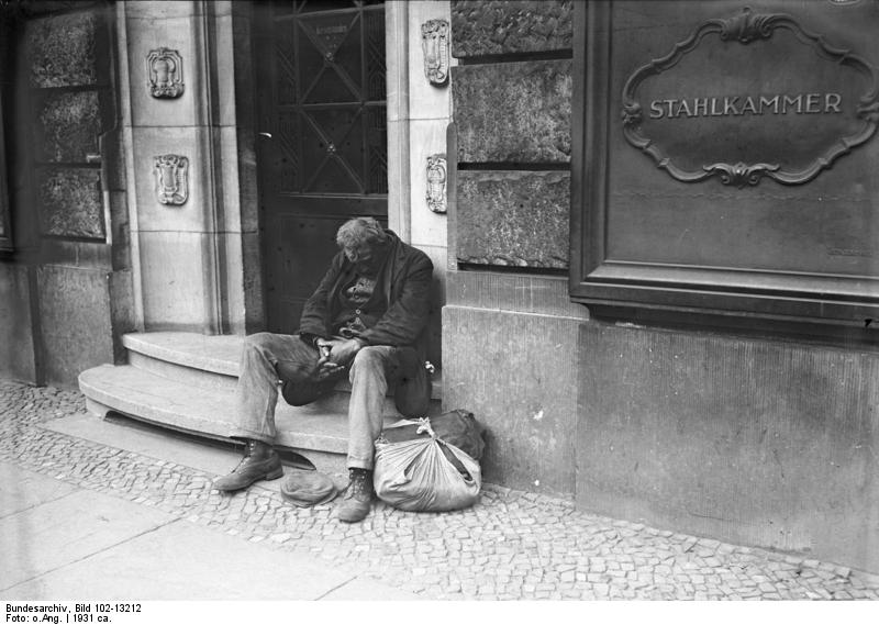 Obdachloser Mann - Quelle: Wikimedia