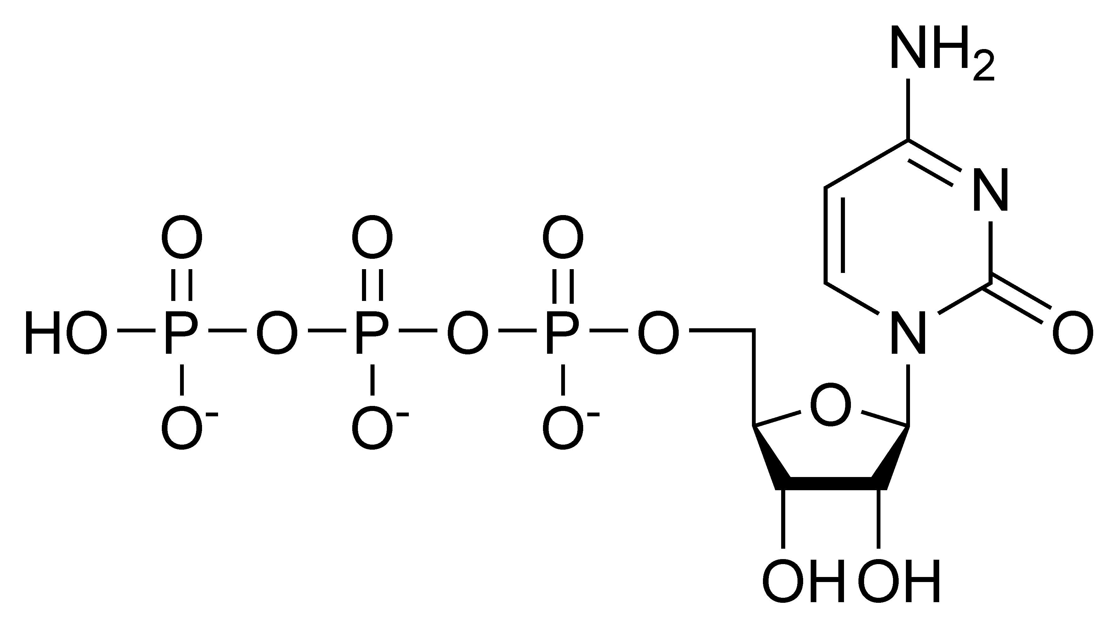 Chemical structure of cytidine triphosphate
