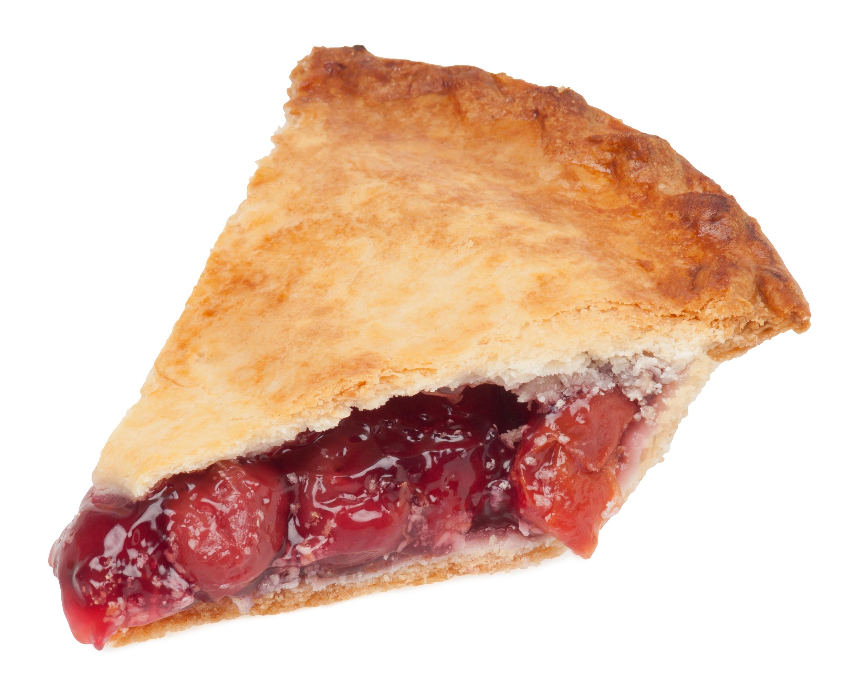 Cherry Pie Slice With Ice Cream Cherry pie