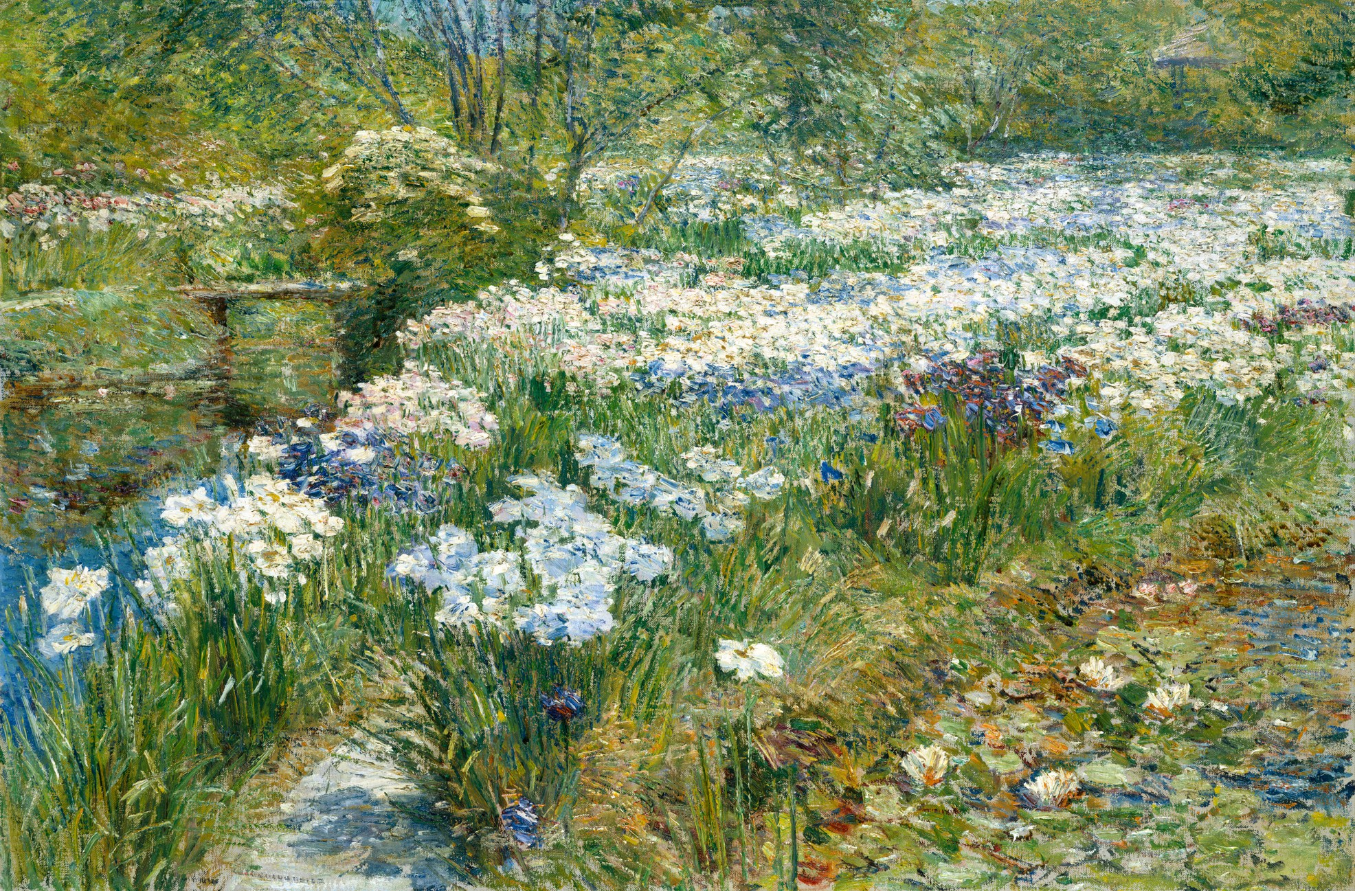 File childe hassam the water garden wikimedia for The water garden
