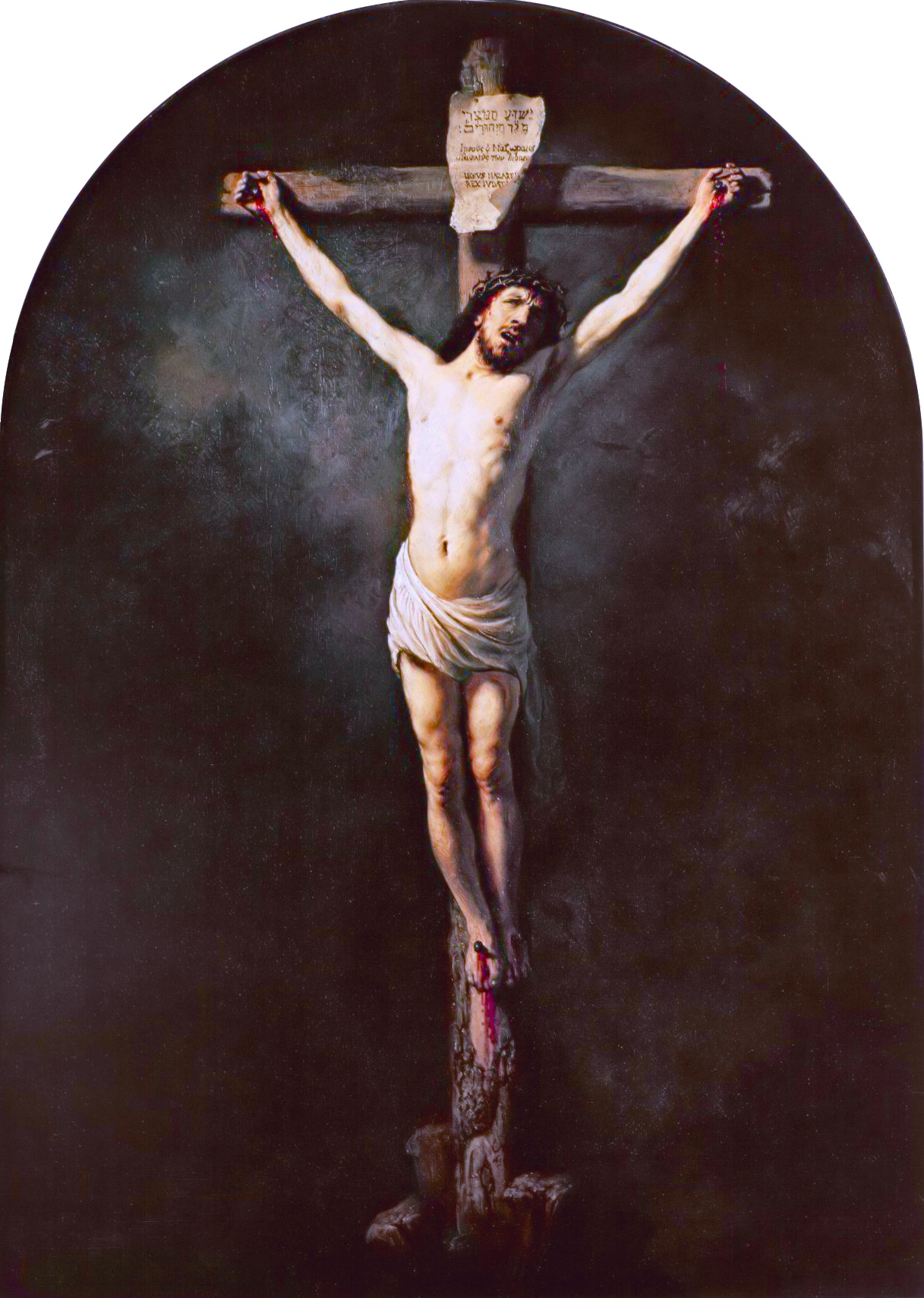 File:Christ on the cross (1631), by Rembrandt jpg