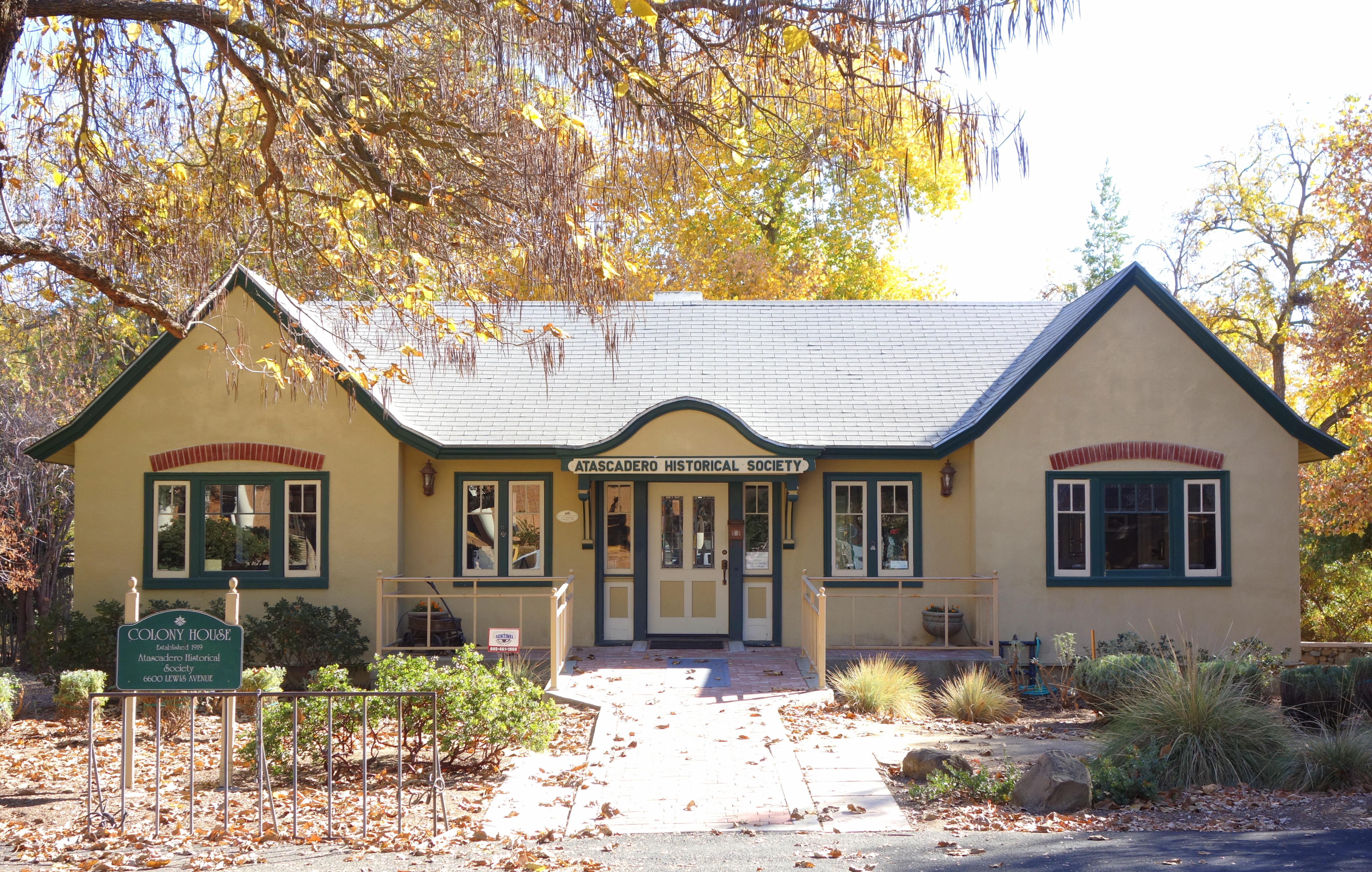 File Colony House Atascadero Historical Society