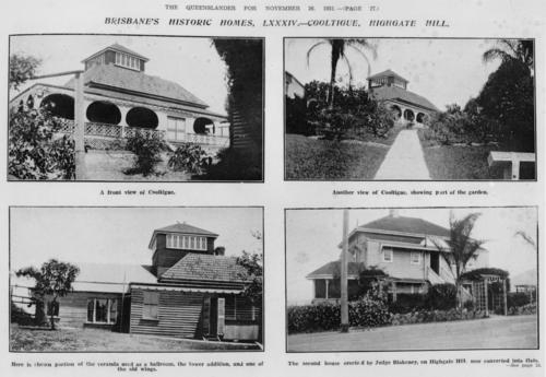 Cooltigue, historic home of William Theophilus Blakeney, Highgate Hill, Brisbane