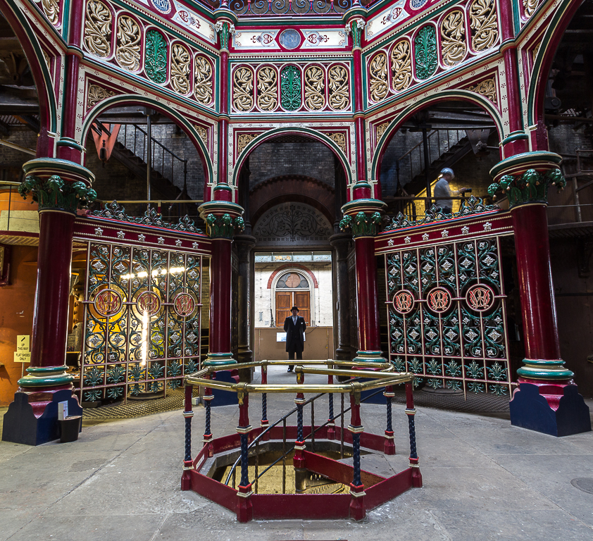 La pièce Octogon dans la station de pompage Crossness Pumping Station. Photo de Christine Matthews.