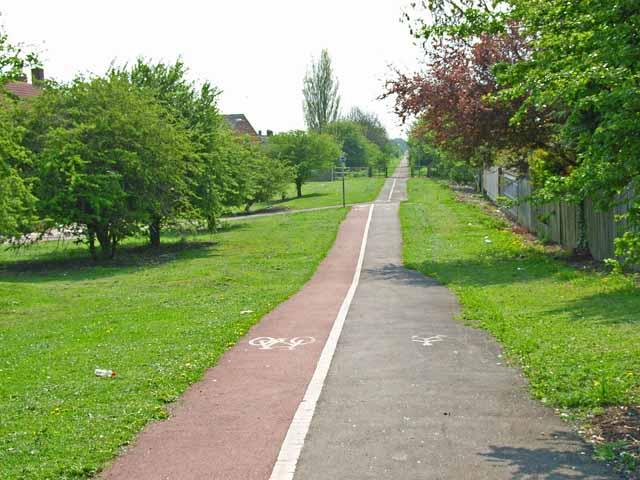 Cycle path, Stockton-on-Tees - geograph.org.uk - 167510