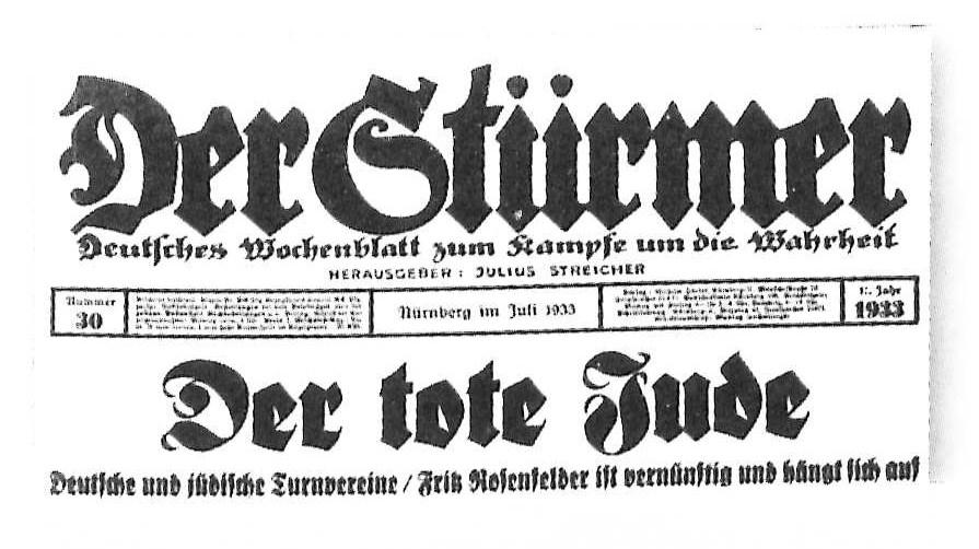 Datei:Der Stürmer Juli 1933 Schlagzeile.jpg – Wikipedia