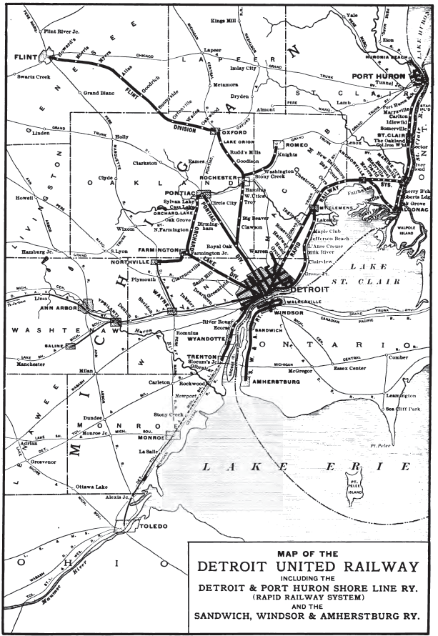 A map of the DUR network from 1904.