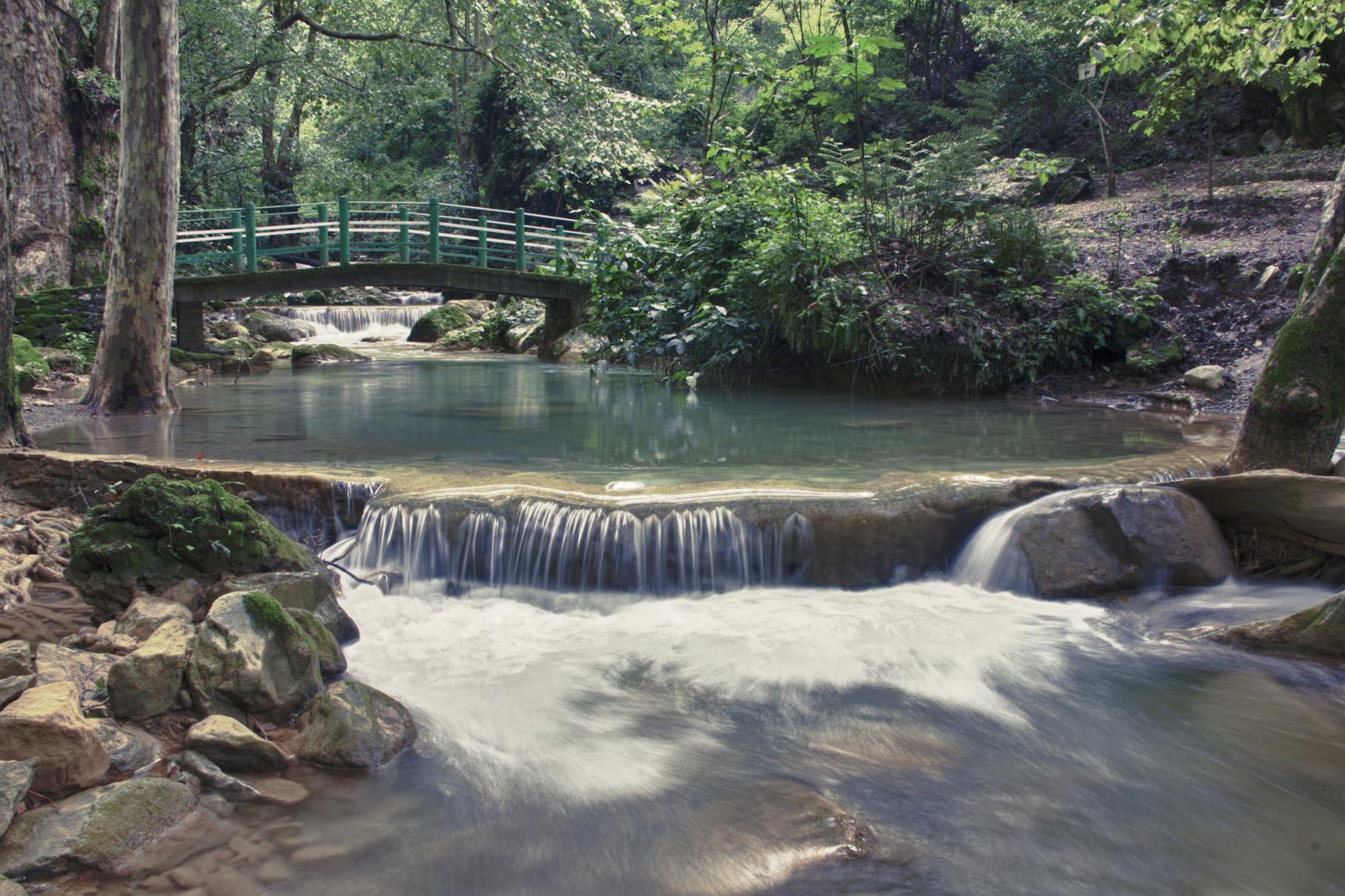 vista de la cascada El Chujeve de Jalpan de Serra