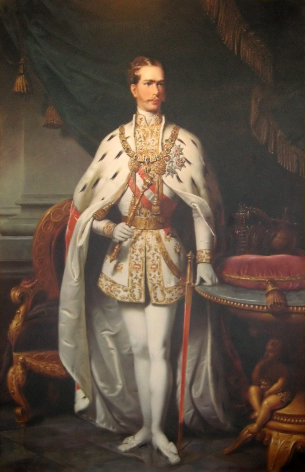 Franz Joseph în 1859m la şapte ani după vizita în ardeal