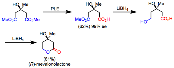 Asymmetric ester hydrolysis with pig-liver esterase - Wikipedia
