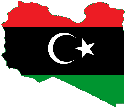 Flag-map of Kingdom of Libya