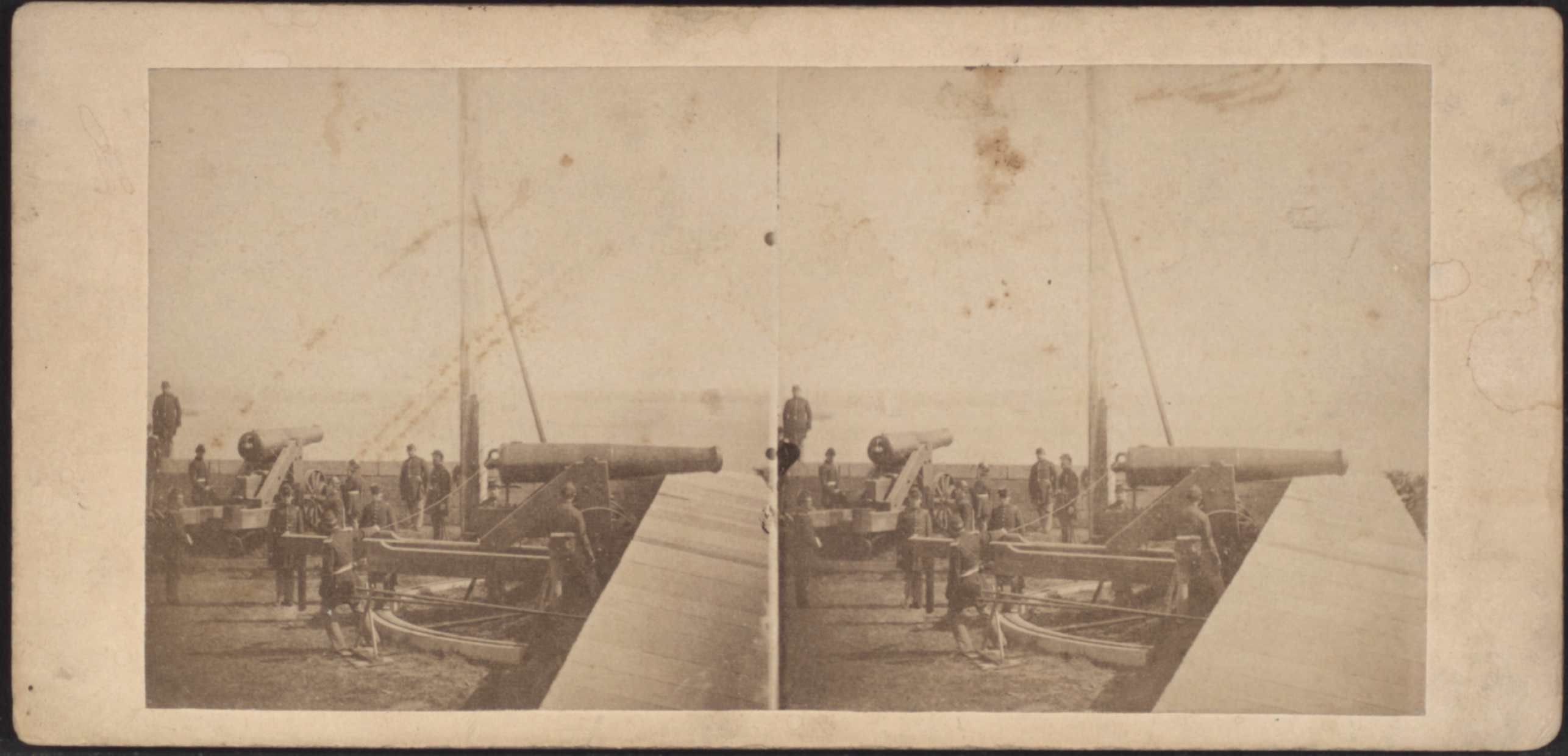 Artillerymen With Guns In Fort Wood On Bedloe S Island