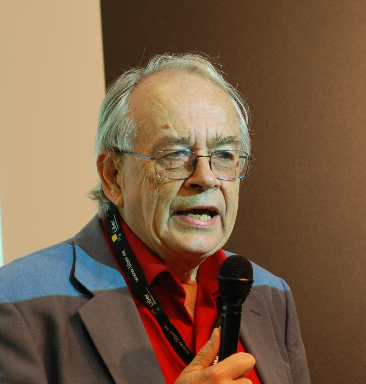 Swedish-American political science researcher Göran Hydén at the Göteborg Book Fair 2010.