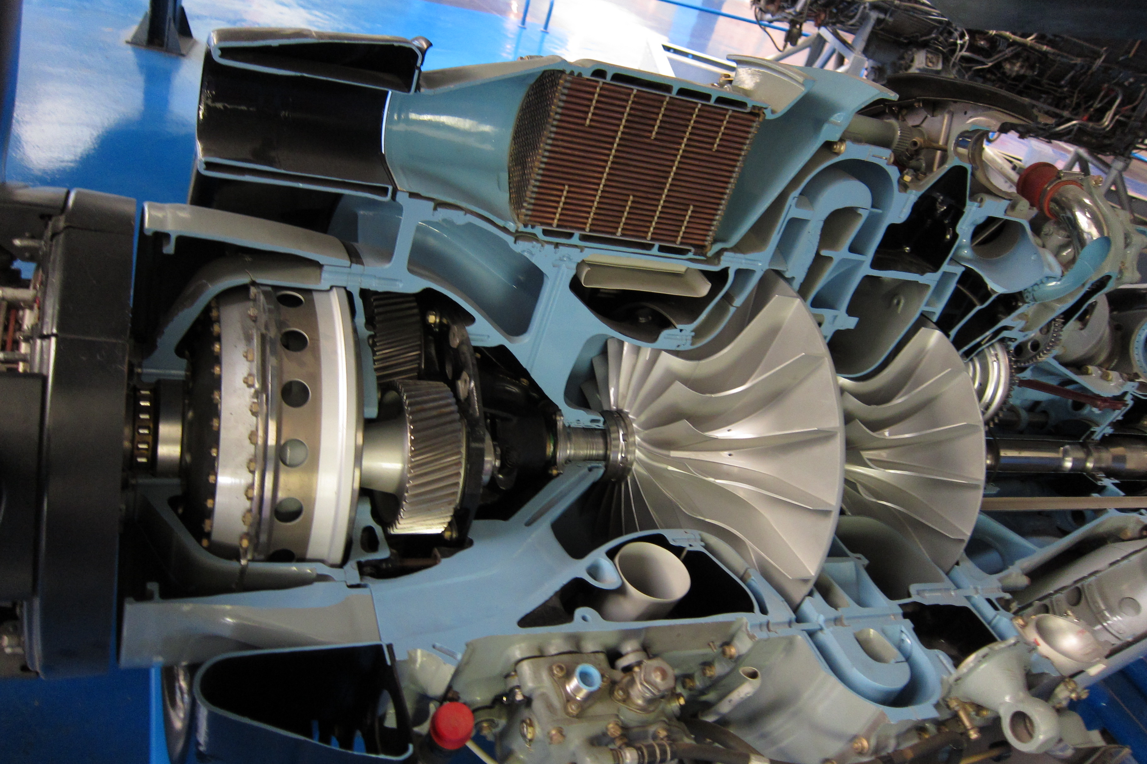 File Gearbox inlet and pressors of sectioned Rolls Royce Dart