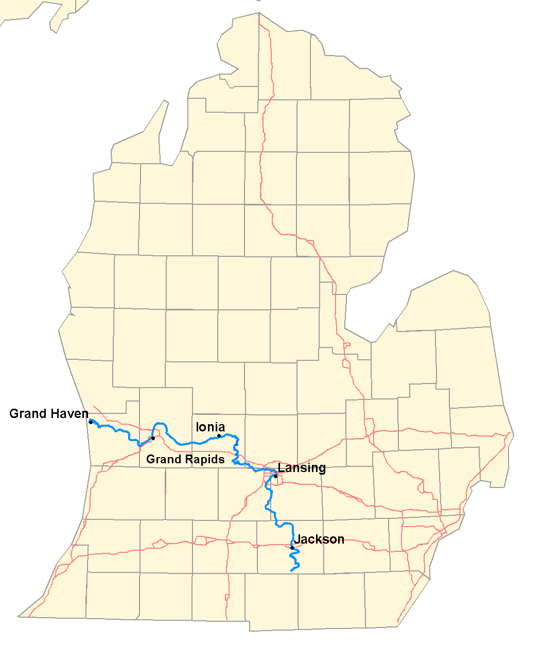 Grand River Flow >> Grand River Michigan Wikiwand