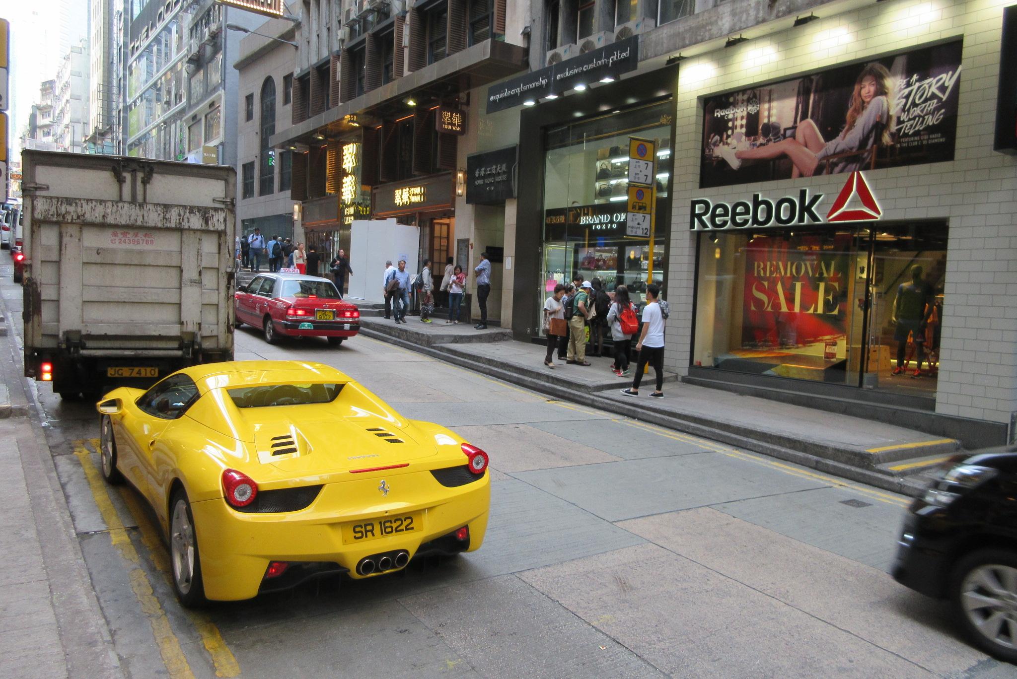 File:HK Central Wellington Street carpark Yellow 法拉利 Ferrari ...