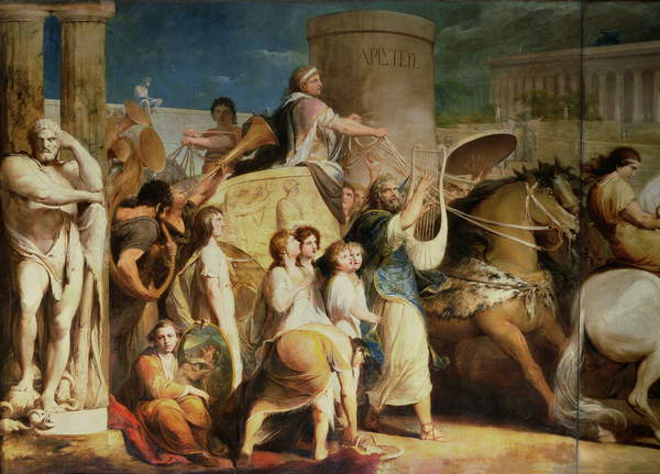Crowning the Victors at Olympia - Hiero of Syracuse and victors
