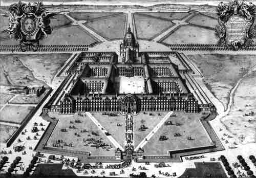 Les Invalides in 1683 under Louis XIV.