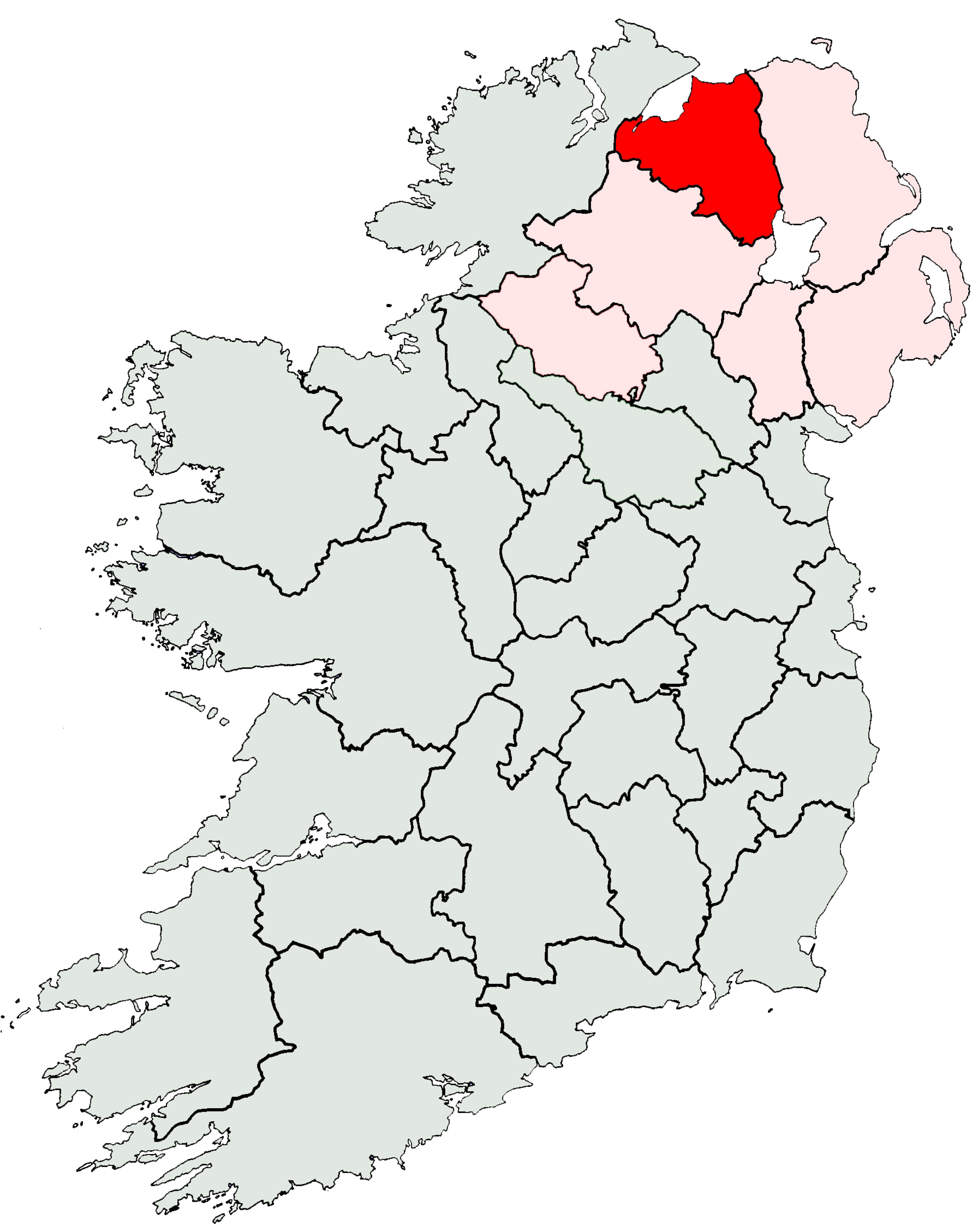 Outline Map Of Ireland.File Ireland Location Derry Jpg Wikimedia Commons