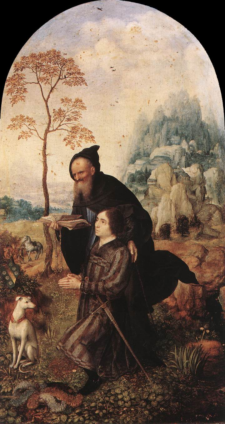Size of this preview: 319 × 599 pixels . Other resolutions: 127 ...: commons.wikimedia.org/wiki/File:Jan_Gossaert_-_St_Anthony_with_a...