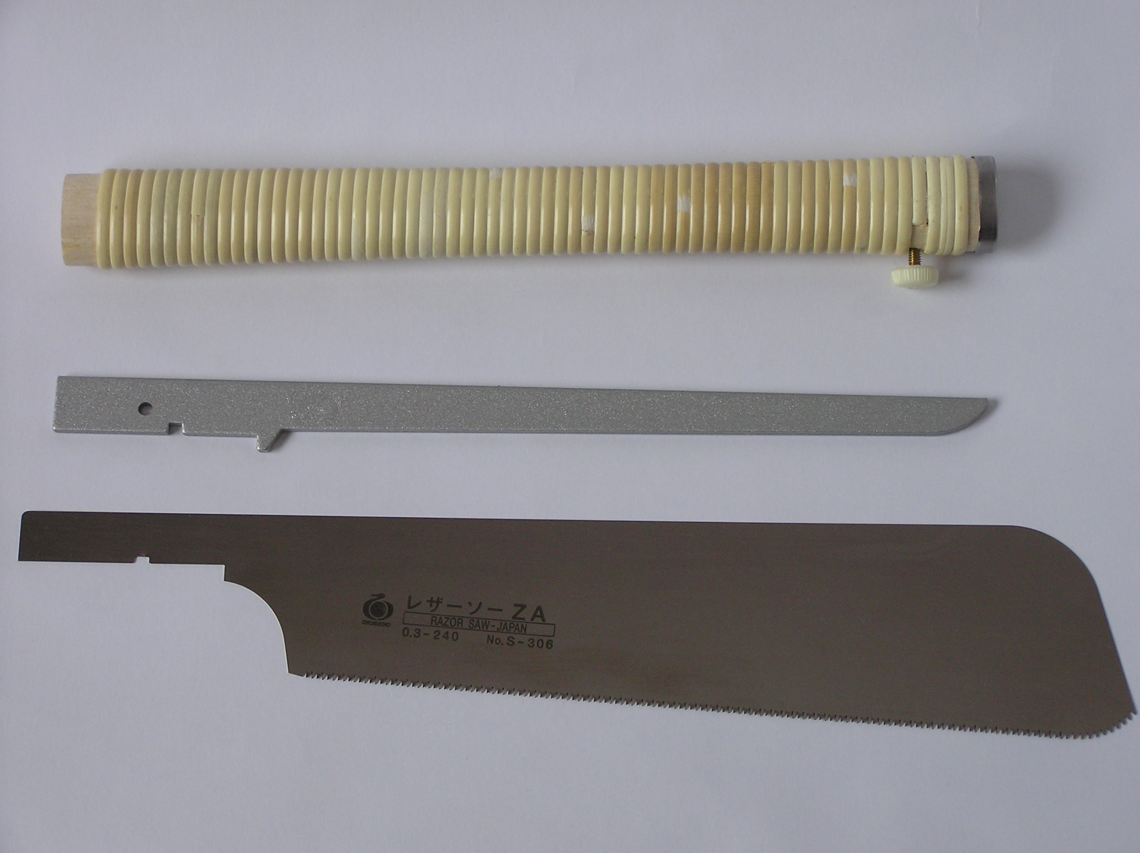 how to set the blade in a gyocho razor saw