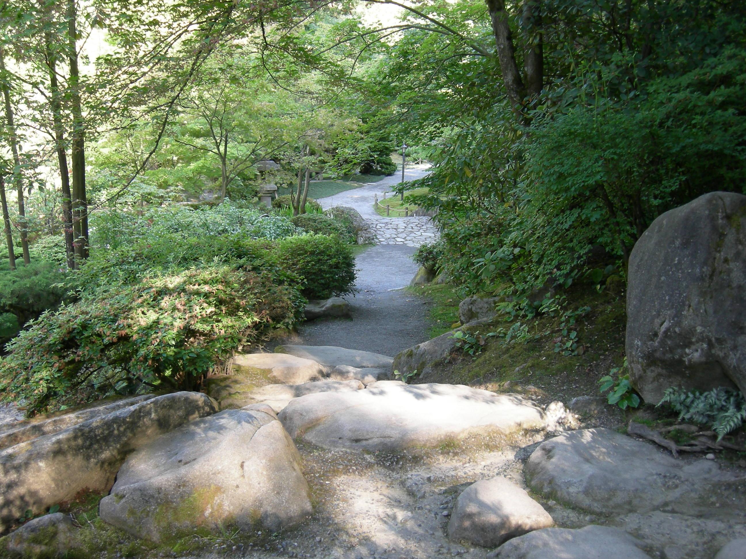 File japanese garden seattle path wikimedia for Japanese garden path