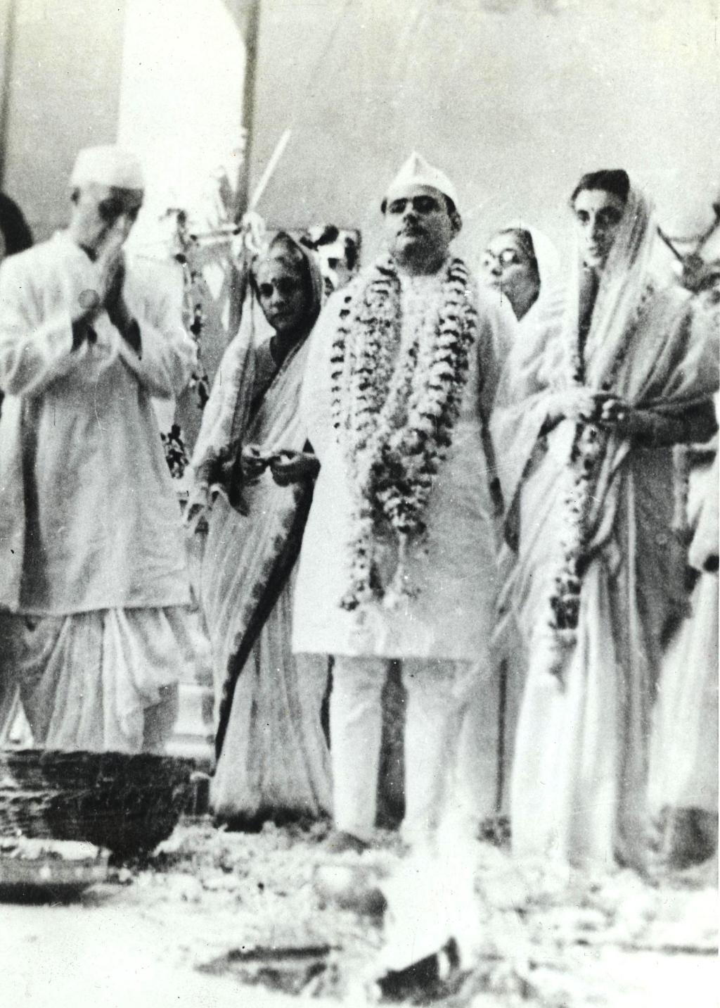 FileJawaharlal Nehru At The Time Of The Marriage Of Indira And