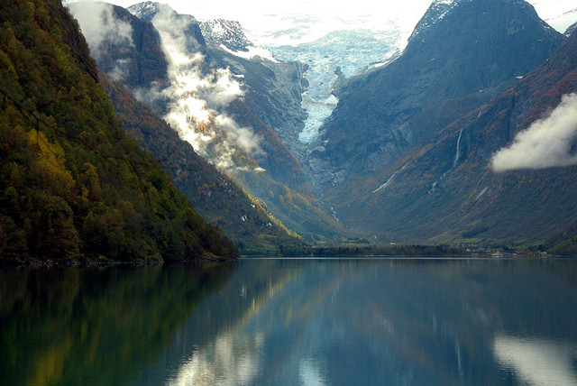 Jostedalsbreen Glacier valley