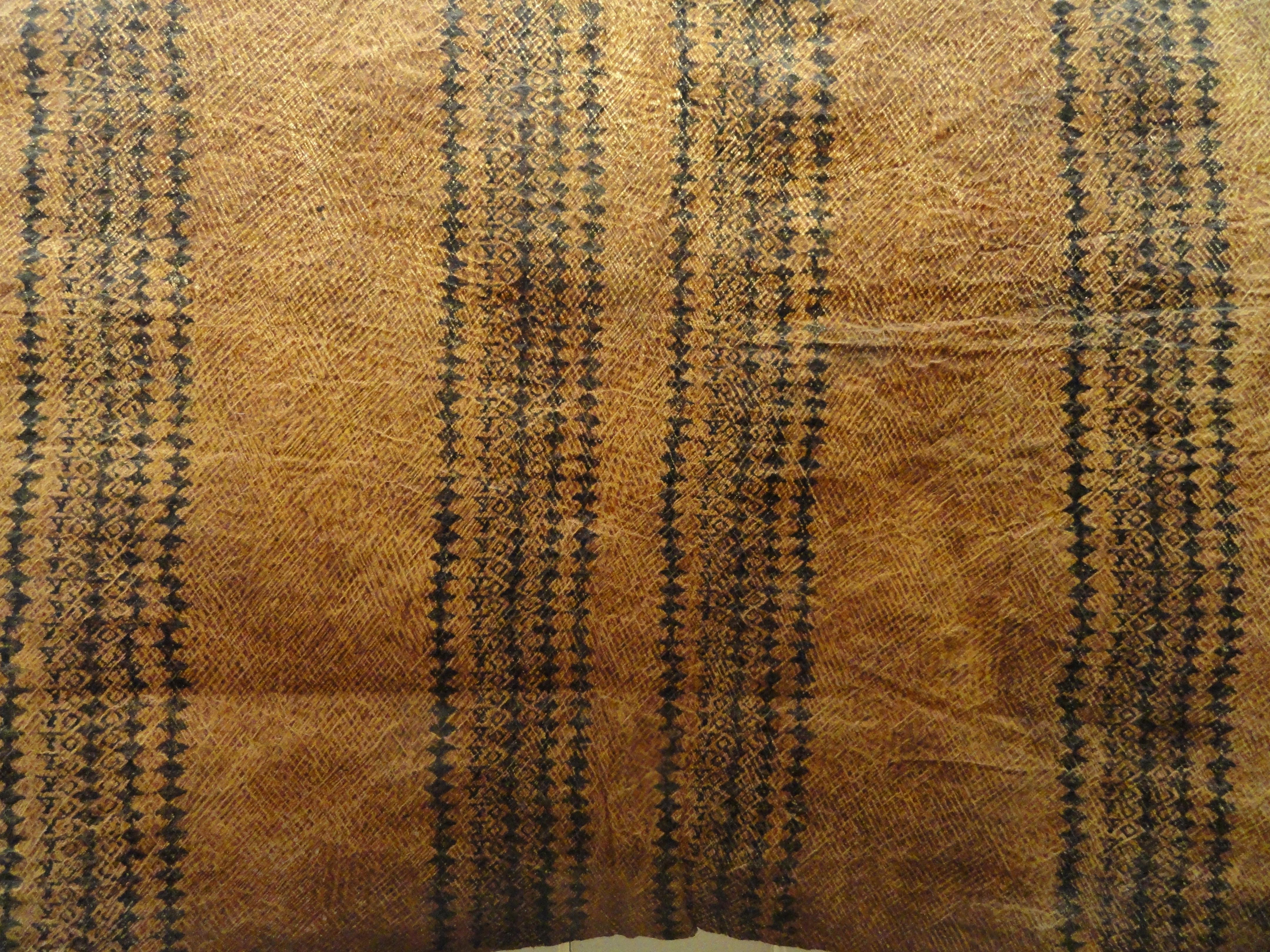 File:Kapa or Tapa cloth, Hawaii, collected before 1890 ...