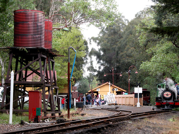 Lakeside railway station down end