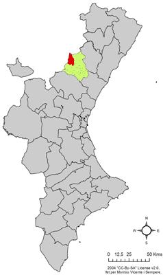 Vị trí của Cortes de Arenoso