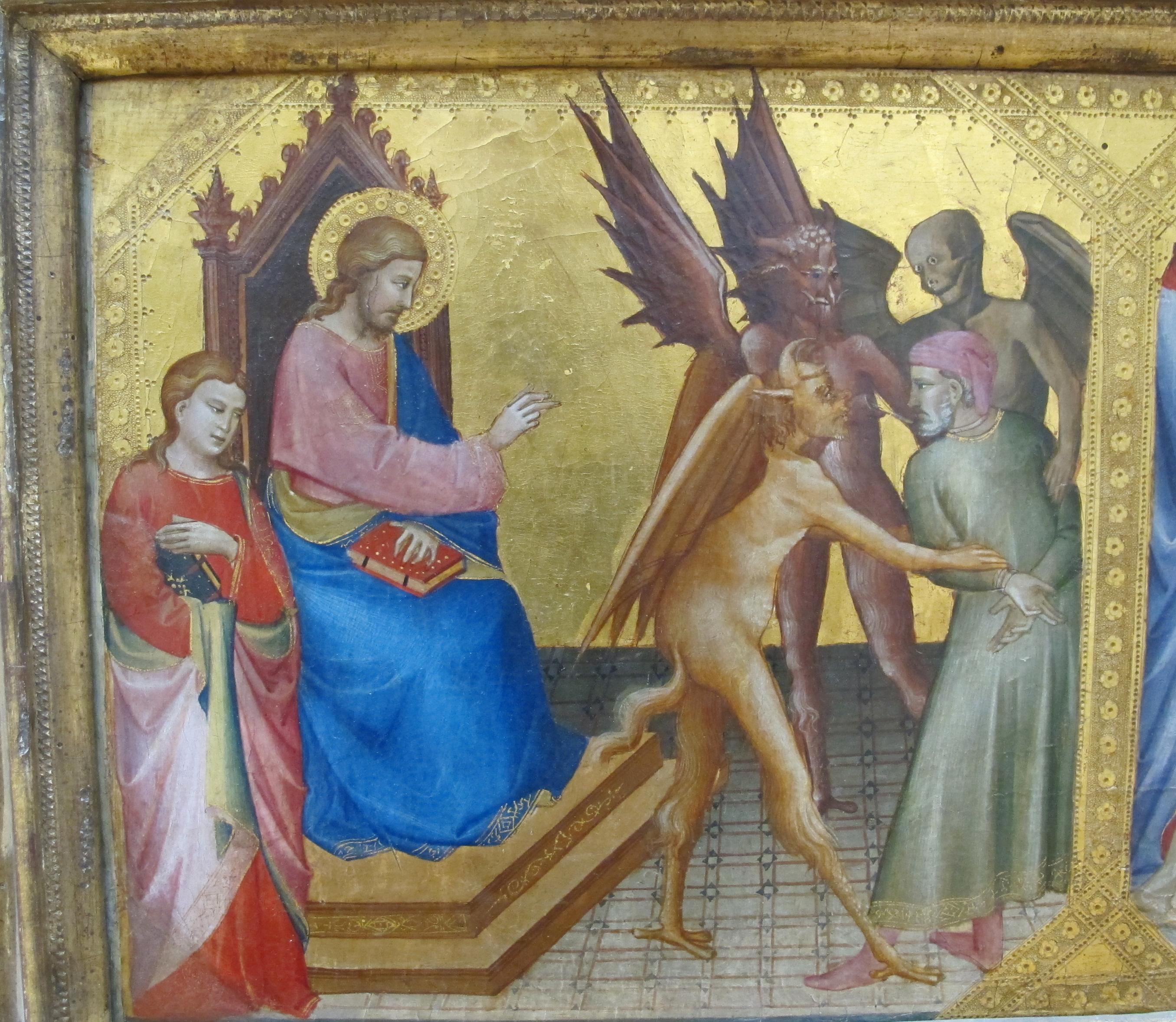 File:Lorenzo monaco, predella con banchetto di erode, crocifiss. e storie di