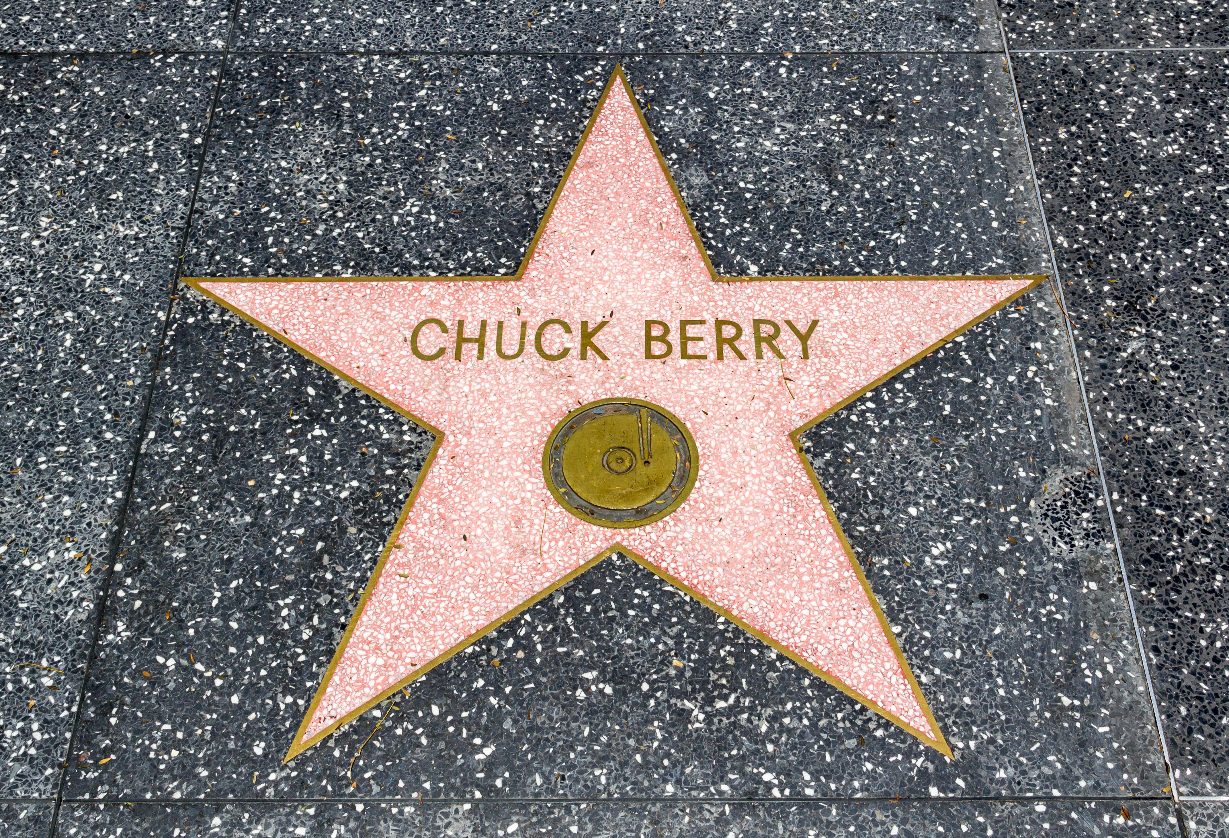 Estrella de Chuck Berry en el Paseo de la Fama de Hollywood.