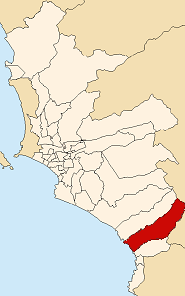 Location of Punta Negra in the Lima province