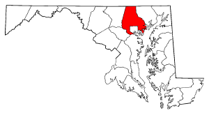 Ficheiro:Map of Maryland highlighting Baltimore County.png