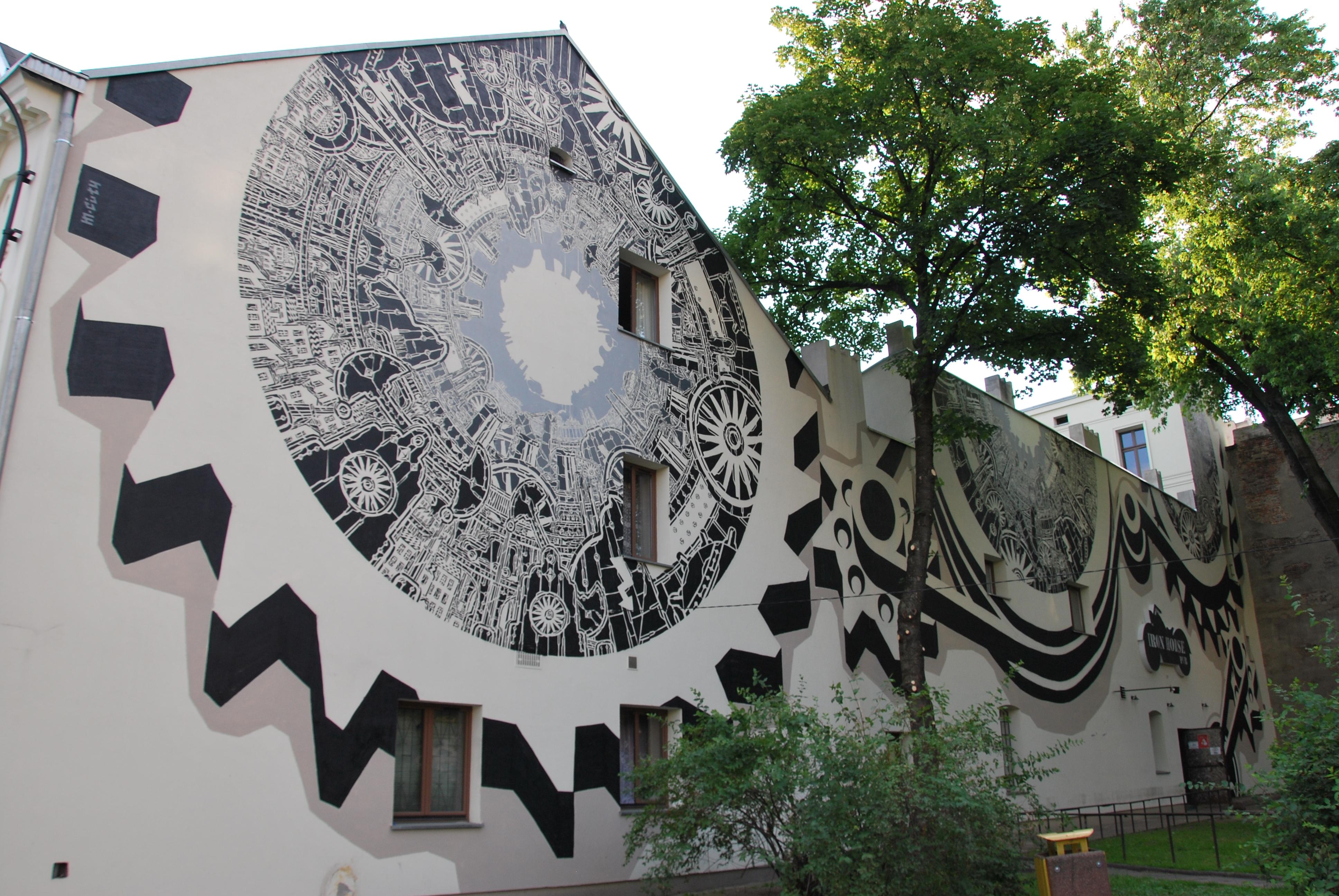 File Mural Of M City Lodz 16 Tuwima Street Jpg Wikimedia Commons