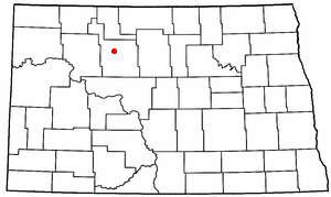 Location of Des Lacs, North Dakota