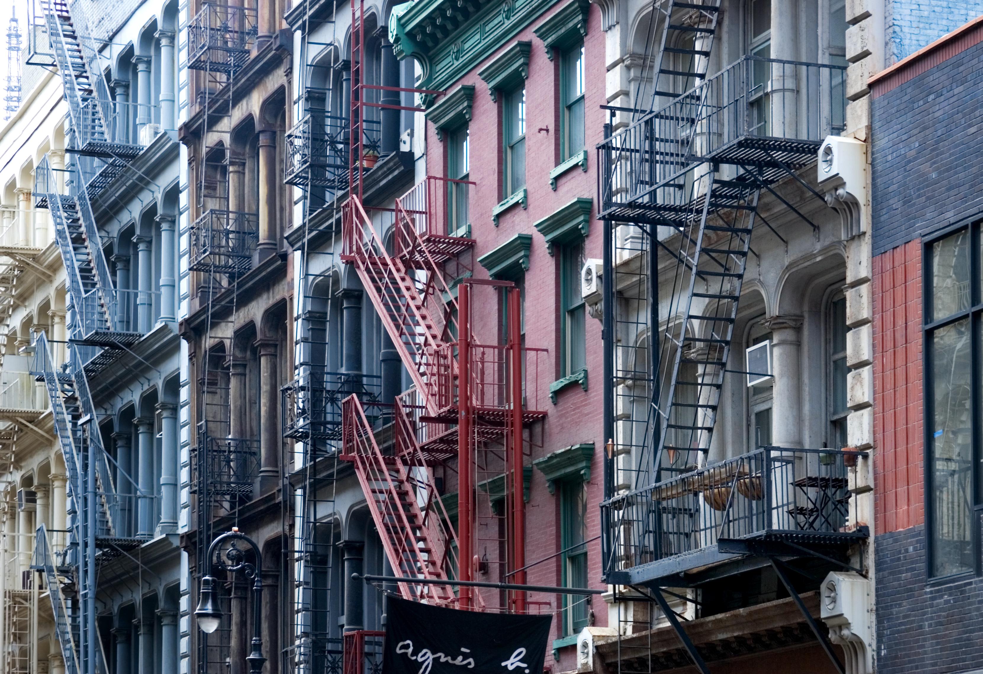 Fire Escape New York City 1940s : File nyc fire escapes g wikimedia commons