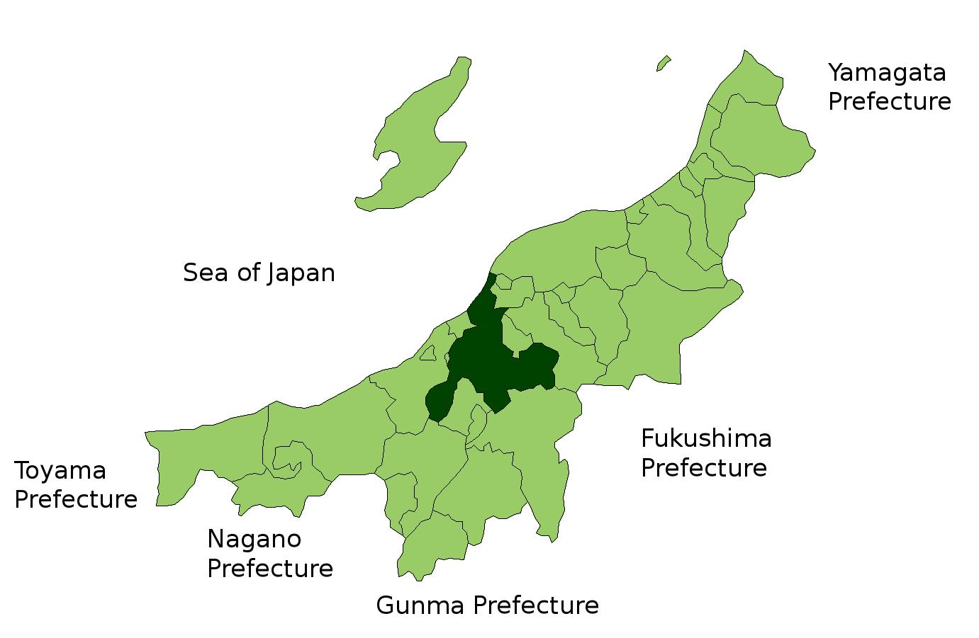 Niigata Japan Map - Japan map niigata
