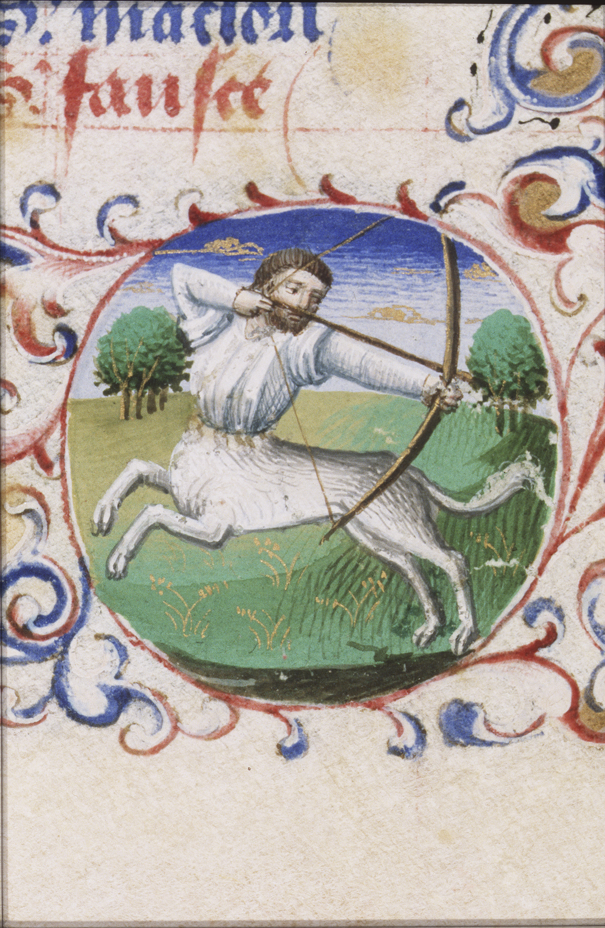 File:November - Sagittarius - Book of hours Simon de Varie