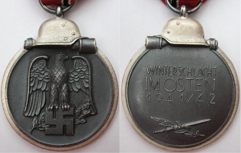 Keerzijde van de medaille's (links) en achterzijde (rechts).