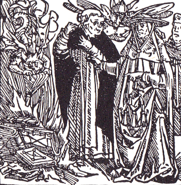 Papists burning Luther's works