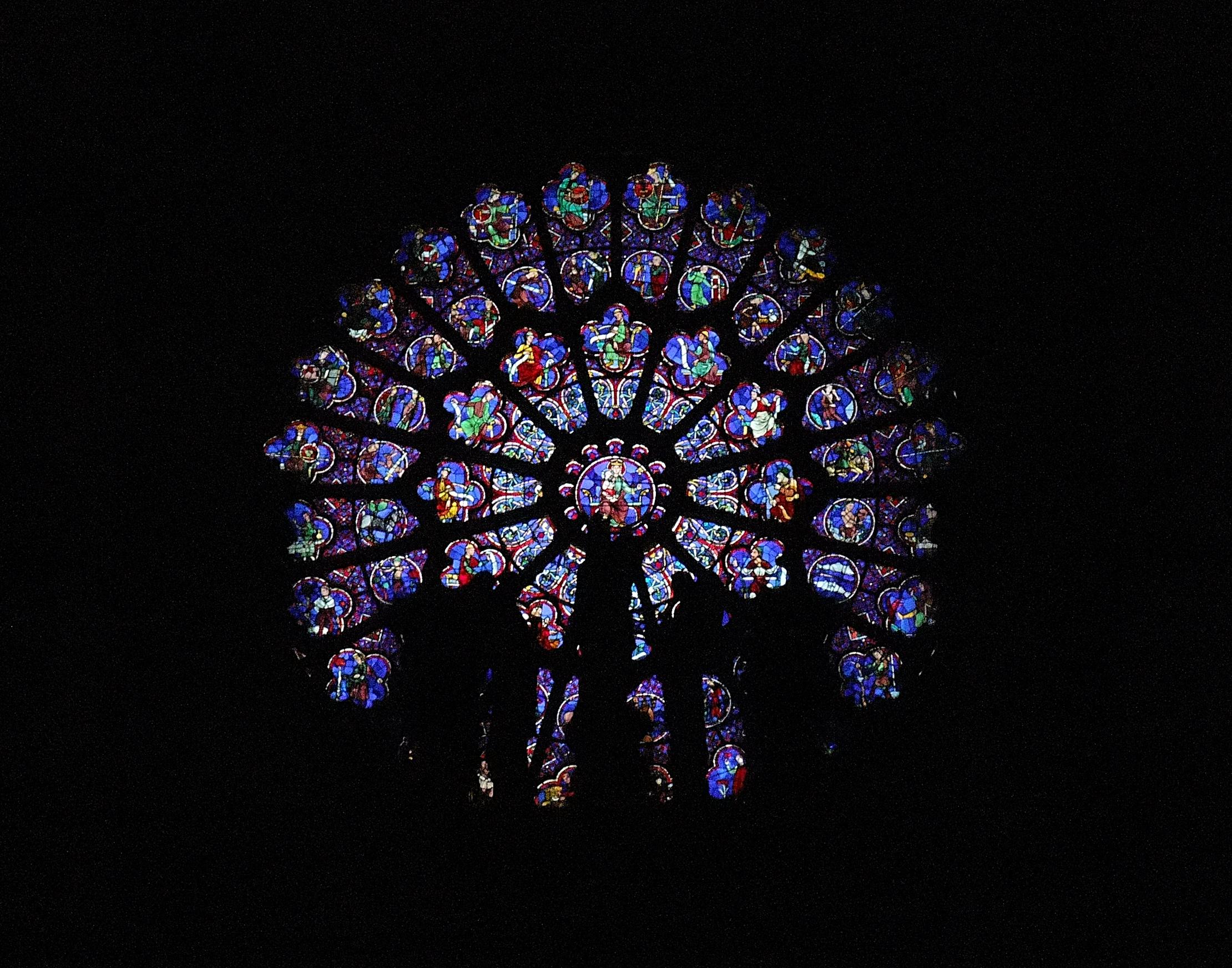 File Paris Notre Dame De Paris Rosace Ouest Jpg