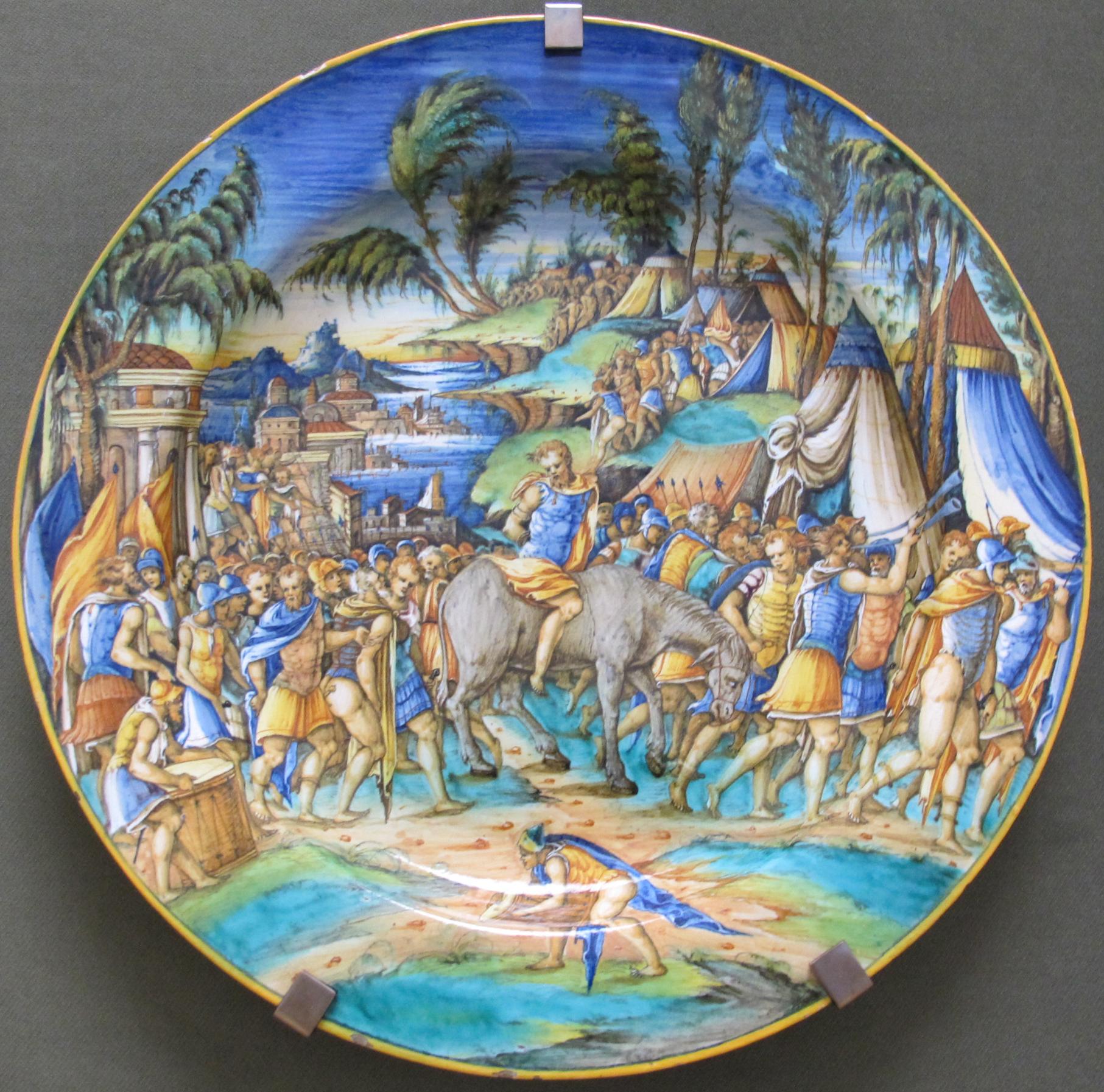 File pesaro pittore di zenobia piatto con generale for Piatto romano