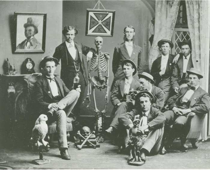 Members of Phi Kappa Sigma at Washington & Jefferson College in 1872