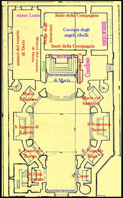 Piantina opere S. Michele